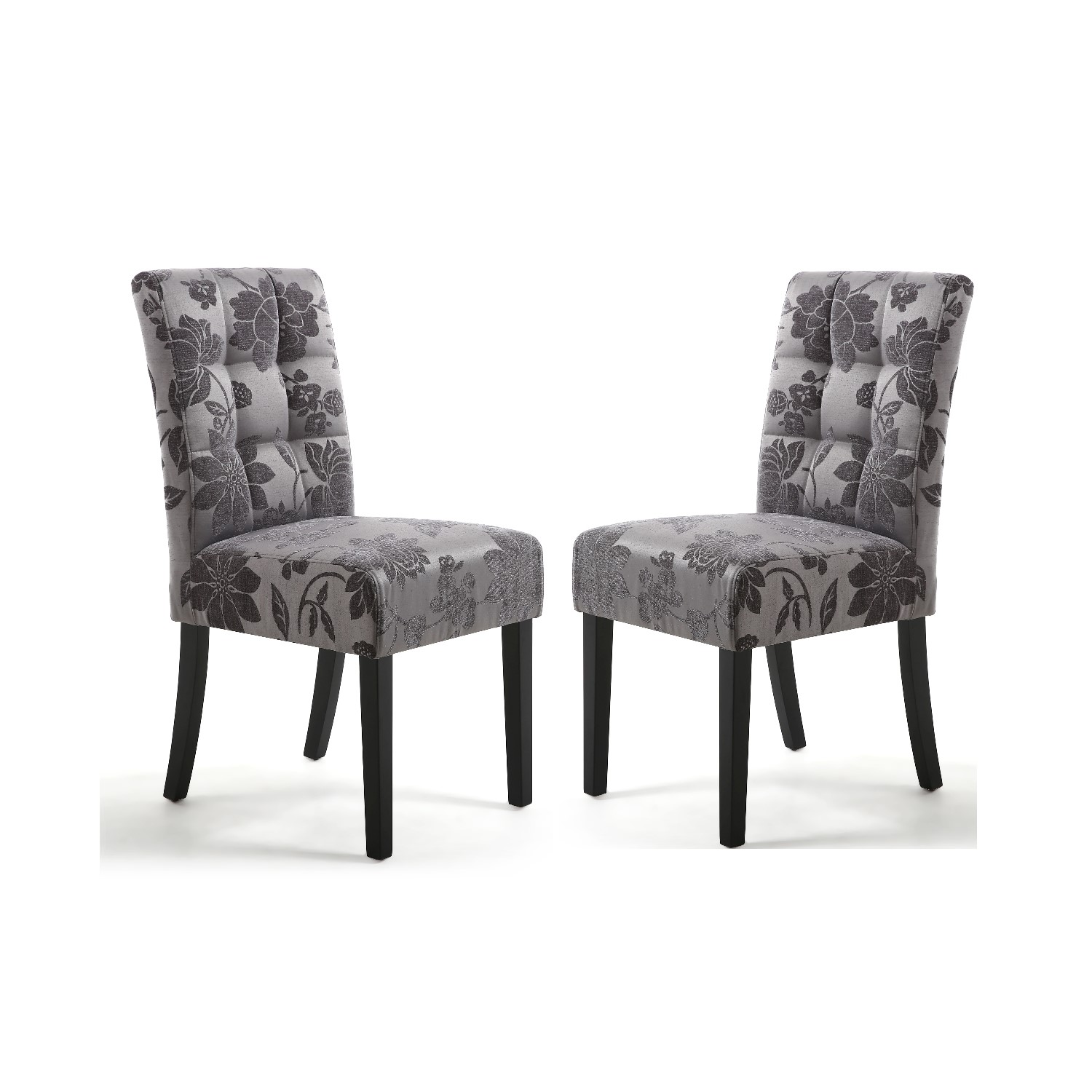 shankar moseley pair of waffle back jacquard grey dining chairs with rh furniture123 co uk
