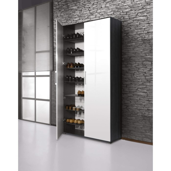 Germania shoe cabinet in ash white 40 pairs furniture123 for Schrank 120 hoch