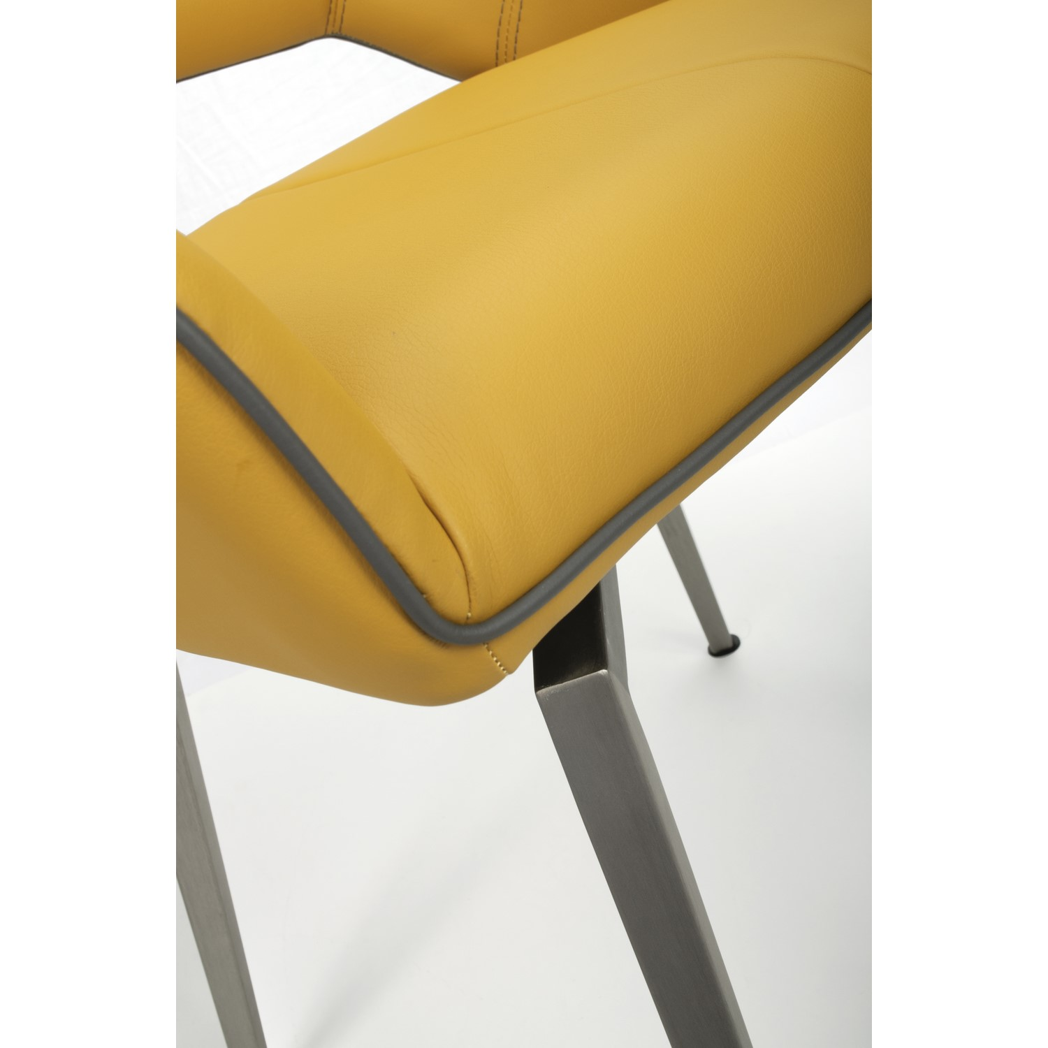 Tremendous Vintage Carseat Pair Of Chairs In Yellow Faux Leather Gmtry Best Dining Table And Chair Ideas Images Gmtryco