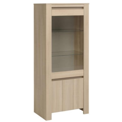 Parisot Lana Silver Cabinet in River Oak