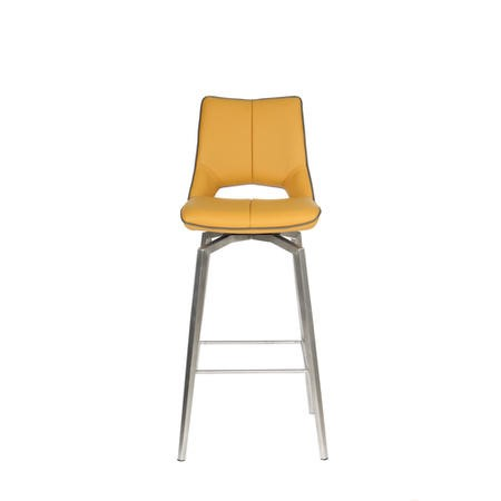 Carseat Yellow Faux Leather Bar Stool