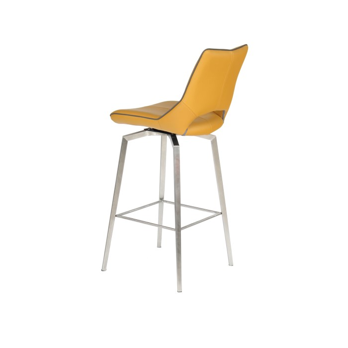 Carseat Yellow Faux Leather Bar Stool Furniture123