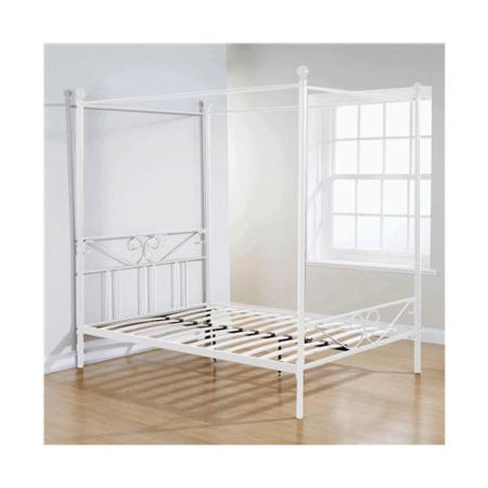 Mountrose Brunswick 135cm Double Four Poster Bed In White Furniture123