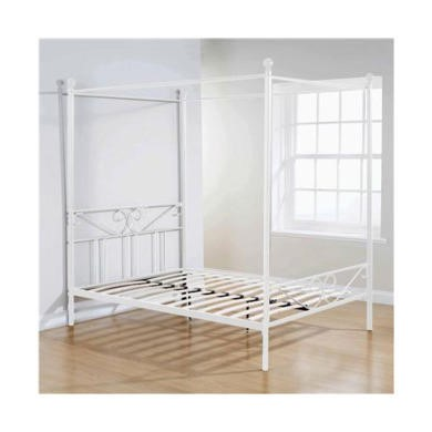 Mountrose Brunswick Four Poster King Size Bed In White