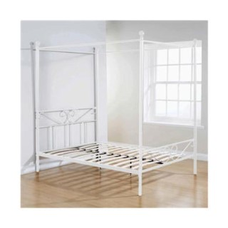Mountrose Brunswick 135cm Double Four Poster Bed In White