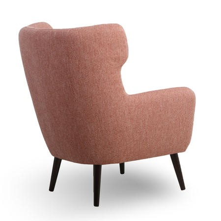 Morange Linen Effect Scandi Chair