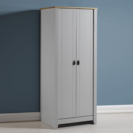 Seconique Ludlow Wardrobe in Grey and Oak