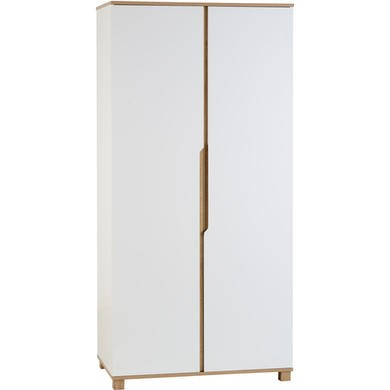 Seconique Portsmouth 2 Door Wardrobe in White and Oak