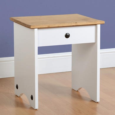 Seconique Corona White Dressing Table Stool
