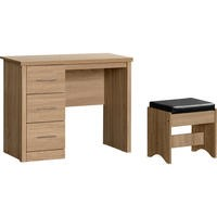 Lisbon 3 Drawer Dressing Table Set in Light Oak Effect