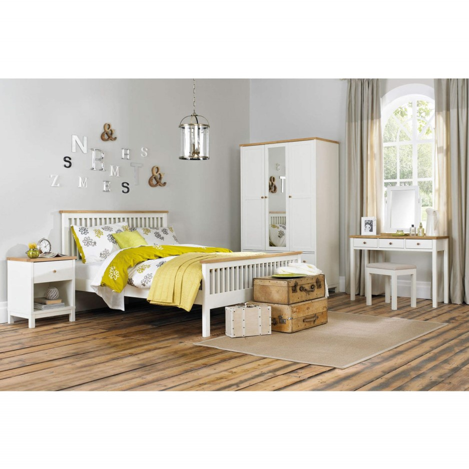 Bentley Designs Atlanta Wide Chest Of Drawers In White And