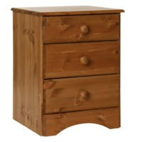 Furniture To Go Scandi 3 Drawer Bedside In Pine