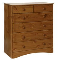Furniture To Go Scandi 4+2 Drawer Chest In Pine