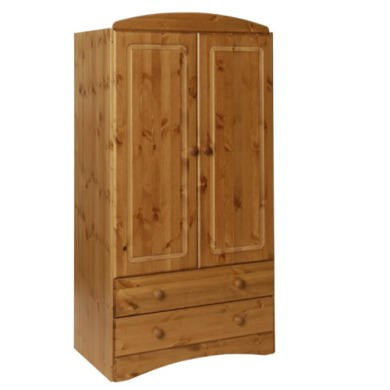 Furniture To Go Scandi 2 Door 2 Drawer Combi Robe In Pine