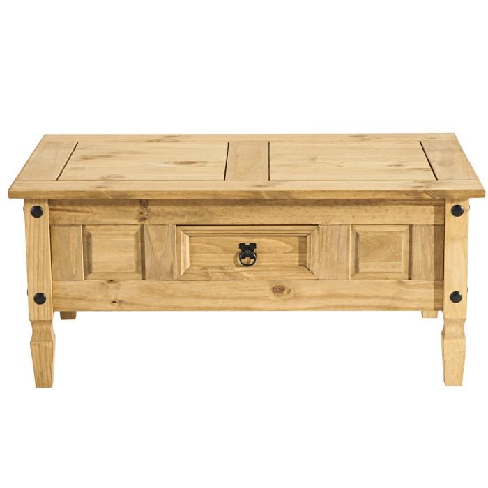 Corona Solid Pine 1 Drawer Coffee Table