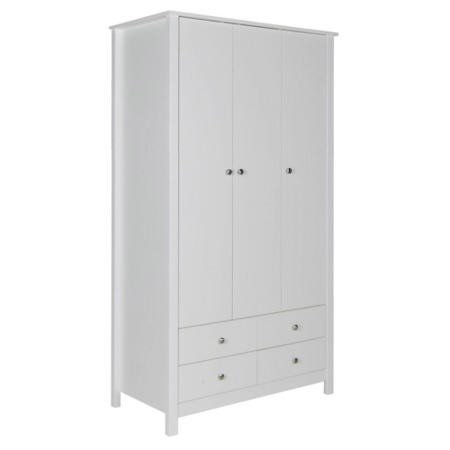 Furniture to go florence triple wardrobe in white for Furniture 123 wardrobes