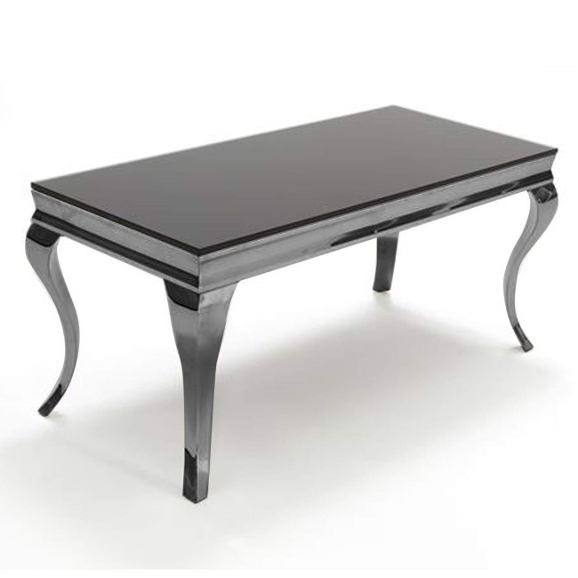 Black Mirrored Large Coffee Table - Vida Living Louis