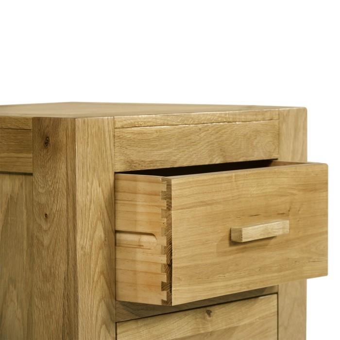 atlantic 2 drawer solid light oak bedside table furniture123. Black Bedroom Furniture Sets. Home Design Ideas