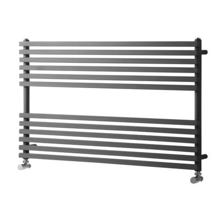 600mm x 1000mm Anthracite Wall Hung Towel Rail - Oxfordshire Range