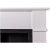Adam Oxford White Fireplace Suite with Black Double Door Electric Stove & Log Effect Fuel Bed