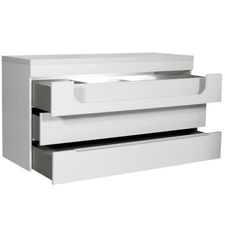 Sciae Opus 36 3 Drawer Chest With Light in White High Gloss