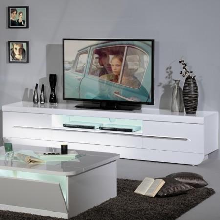 Sciae Floyd 36 Inch Modern Tv Hifi Unit Stand White