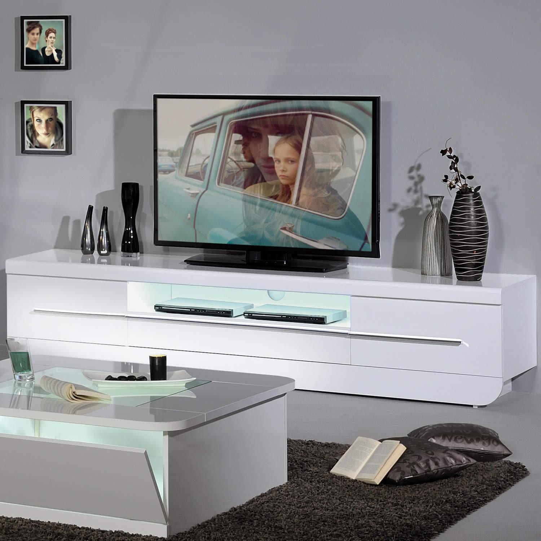 Nice White Gloss Tv Units Uk Part - 10: Skylight Floyd 36 High Gloss TV Cabinet