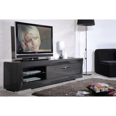 sciae brook high gloss grey tv cabinet furniture123. Black Bedroom Furniture Sets. Home Design Ideas