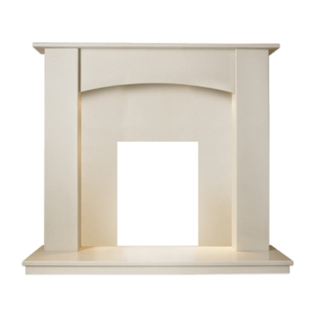 Adam Camber Marble Fireplace Surround in Beige Stone