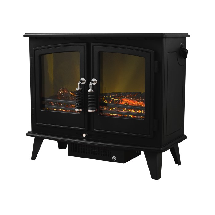 heater fireplace led fire light black product electric free mdf remote control standing