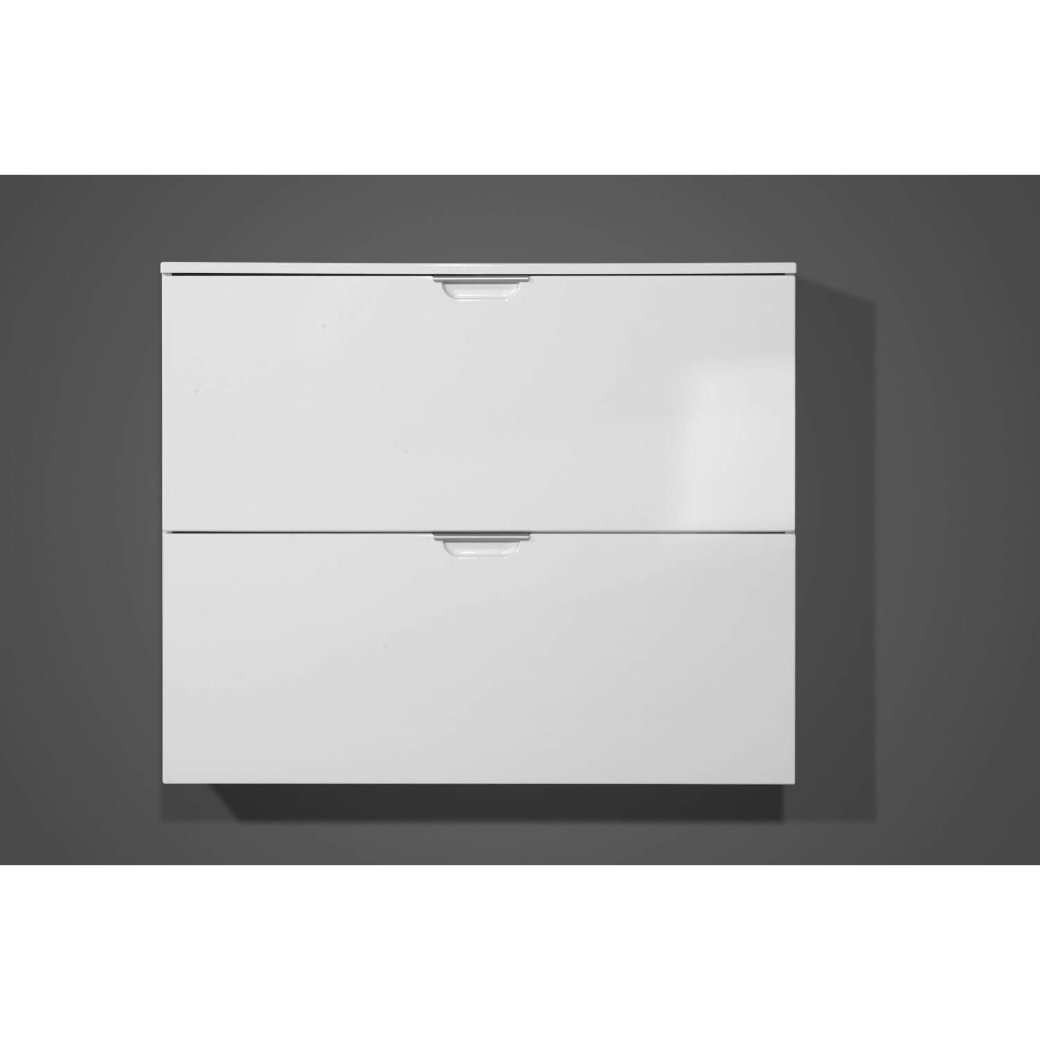 Germania Event Wall Mounted Shoe Cabinet In White - 8 Pairs ...