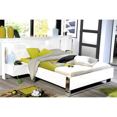Sciae Sunrise 36 Kingsize Bed in White High Gloss