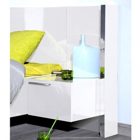 Sciae Sunrise 36 Right Bedside Table with Lighting in White High Gloss