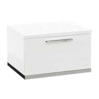 Sciae Sunrise 36 Bedside Table in White High Gloss