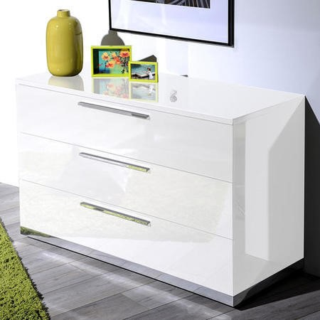 Sciae Sunrise 36 Chest of Drawers in White High Gloss