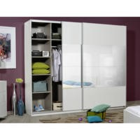 Sciae Optimus 36 2 Door Sliding Wardrobe in White High Gloss