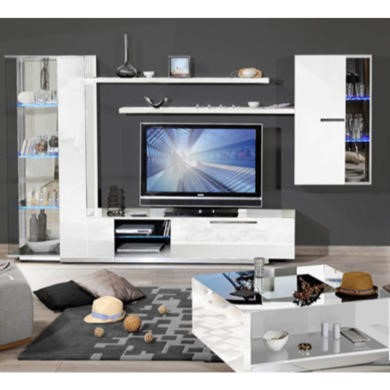 Skylight Vertigo 36 High Gloss White TV Cabinet