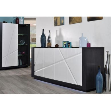 Sciae Quartz 67 4 Door Sideboard in White High Gloss