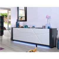 Sciae Quartz 67 Large 4 Door Sideboard in White High Gloss