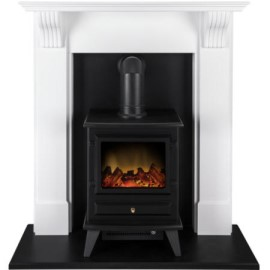 Adam Harrogate Electric Fireplace Suite With Hudson Electric Stove