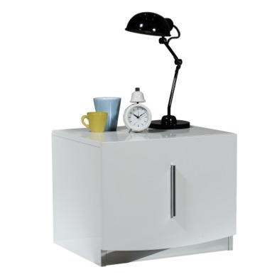 Sciae Calypso 36 Bedside Table in High Gloss White