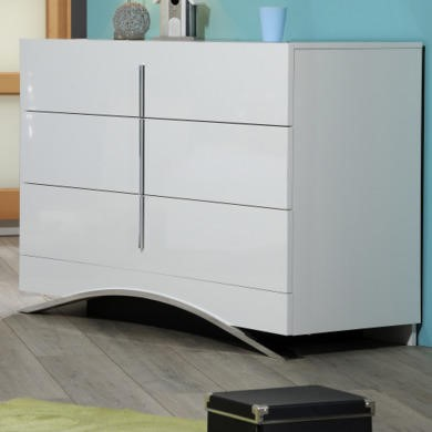 Sciae Calypso 36 White Chest of Drawers