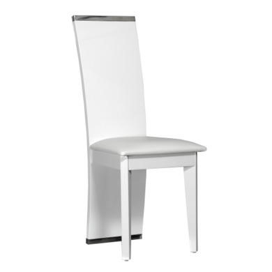 Sciae Smooth 36 Pair of Dining Chairs in High Gloss White