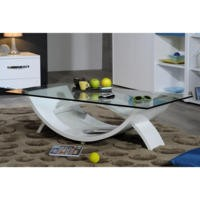 Sciae Smooth 36 Coffee Table in High Gloss White
