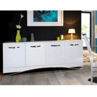 Sciae Smooth 36 white high gloss 4 door sideboard