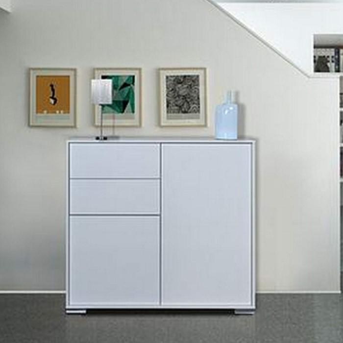 Sciae Nova 34 Highboard In High Gloss White Furniture123