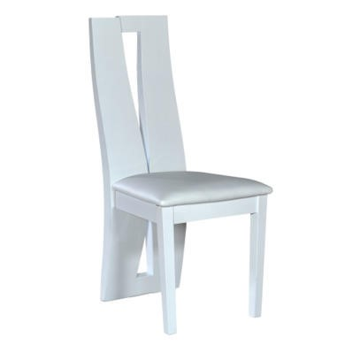 Sciae Brook 76 Pair of Dining Chairs in High Gloss White