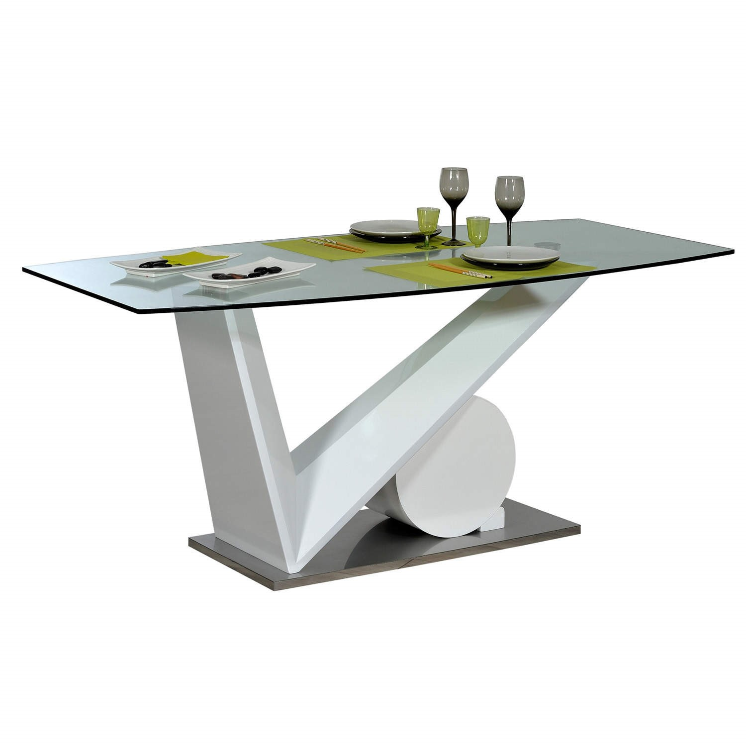 Sciae Brook 76 Glass Top Dining Table in White High Gloss  : 14SJ27422supersize from furniture123.co.uk size 700 x 700 jpeg 34kB