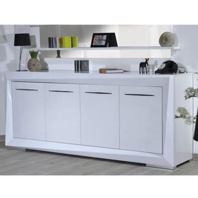 Sciae Brook 76 4 Door Sideboard in White High Gloss