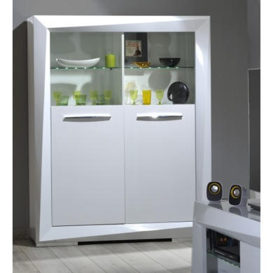 Sciae Brook 76 Display Cabinet in White High Gloss